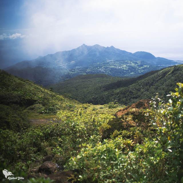 Vue sur les Monts Caraïbes